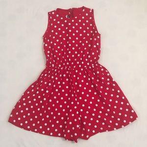 Vintage red/white polka dot romper/playsuit